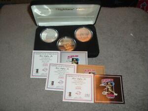 KEN GRIFFEY Jr. Highland Mint Elite Proof 3 Coin Set RARE (305/350)Beautiful Set