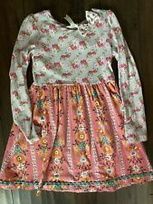 Matilda Jane Once Upon A Time Ring Of Flowers Knit Dress Size 14