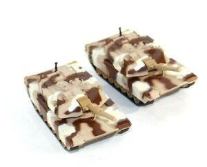 "Set of 2 Vintage Diecast/Plastic Army Tanks Moving Turret on Wheels 6"""