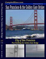 Building Golden Gate Bridge & Old San Francisco old Films 1930's 40's DVD