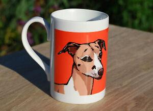 Whippet porcelain single mug