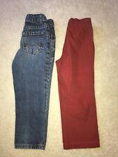Boys 2 Pce Jeans, Pants Lot Size 4 ARIZONA, CARTER'S VGUC!!