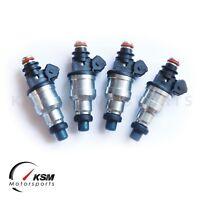 4 x 1000cc Fuel Injectors Fit Honda OBD1 OBD2 B16 B18 B20 D15 D16 D18 F22 H22