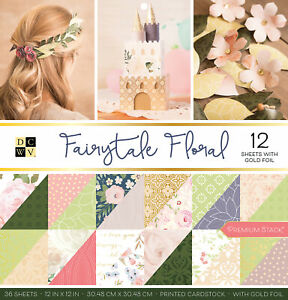 """DCWV Double-Sided Cardstock Stack 12""""X12"""" 36/Pkg-Fairytale Floral, 18 Designs/2"""