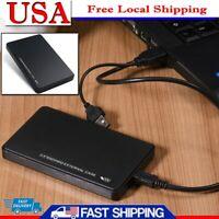 USB 3.0 1TB External Hard Drive Disks HDD 2.5'' Fit For PC Laptop Portable Black