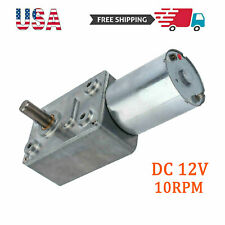 High Torque Turbo Worm Geared Motor Low Reversible Dc 12v 10rpm Electric