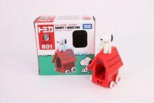 Takara Tomy Dream TOMICA Ride On R-01 Snoopy & House Car Diecast Toy Car Japan