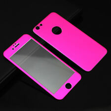 3D Full Cover Tempered Glass Metal Alloy Screen Protector For iPhone 6 6S Plus