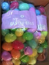 144 MULTI  (12 doz) COLOR EASTER EGGS PLASTIC REFILLABLE ASSORTED COLORS