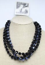Amazing New Multi Layer Hand Cut Glass Cube Necklace by Anthropologie #ANT40