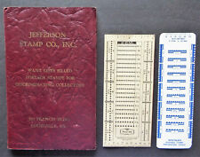 OLD ADVERTISING POCKET STOCK BOOK + PERFORATION GAUGES
