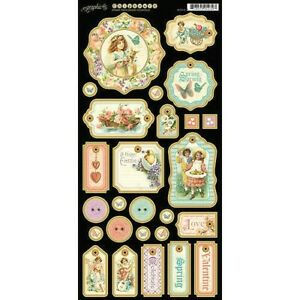 Graphic 45 Sweet Sentiments Collection 6 x 12 Spring Easter Valentine Chipboard