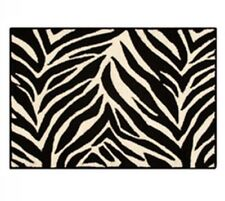 NEW Zebra Striped Hooked Rug 3 x 5