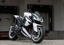Black White Complete Fairing Kit Injection ABS For 2010 2013 Kawasaki Z1000