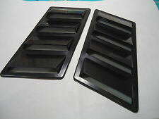 CAR HOOD FENDER AIR FLOW SCOOP DECORATION VENT COVER BLACK X 2 PIECES