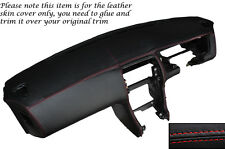 RED STITCH DASH DASHBOARD LEATHER SKIN COVER FITS NISSAN S14 200SX 1994-1999
