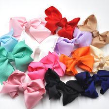 10 pcs Grosgrain Flowers Bows Appliques Crafts Wedding Sewing Decorations B21