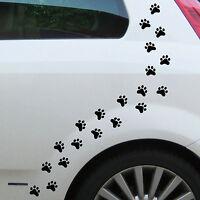 20 Pfötchen schwarz Pfote 3cm Hund Katze Spur Tatzen Auto Aufkleber Deko Folie