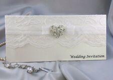 cheque book wedding invitation with elegant filigree diamanté heart  (misc)
