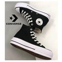 Converse All Star Chuck Taylor plataforma para mujer (negra/blanca) OFERTA!!