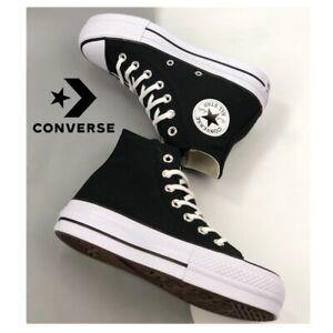 Converse All Star Chuck Taylor plataforma mujer Originales(negra/blanca)OFERTA!!