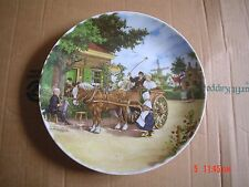 ROYAL SCHWABAP LARGE WALL PLATE HOLLAND PONY AND CART RIDE