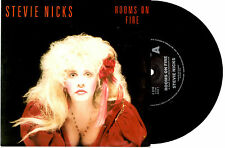 "STEVIE NICKS (FLEETWOOD MAC) - ROOMS ON FIRE - 7"" 45 VINYL RECORD PIC SLV 1989"