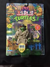 1994 TMNT Ninja Turtles Undercover Raphael !Misprint Donatello! Should AFA It!!