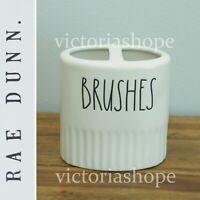 NEW Rae Dunn Bathroom Toothbrush Holder ~ BRUSHES ~ Farmhouse ~ Ivory