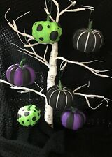 6 HALLOWEEN PUMPKINS TREE BAUBLES DECORATIONS