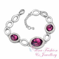 18K White Gold Plated Made With Swarovski Crystal Marquise Cut & Shaped Bracelet