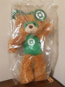 "Gund Green Lantern Clip-On Backpack Hanger DC Comics 6"" Plush Teddy Bear - New"
