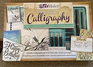 BNIB Art Maker Complete Calligraphy Set - Pen & 3 Nibs - 12 Cartridges Etc