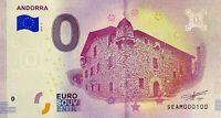 BILLET 0  EURO ANDORRA ANDORRE ITALIE  2018  NUMERO 100