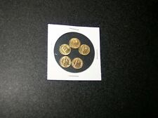 *LOT of 5 - KRUGERRAND  Gold 1/2 GRAM MINI collectible coins fast ship ~
