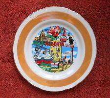 Alberta Canada Collector Vintage Plate Made in Japan