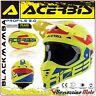 ACERBIS CASCO PROFILE 3.0 BLACKMAMBA MX MOTOCROSS OFFROAD GIALLO FLUO/BLU TG. M