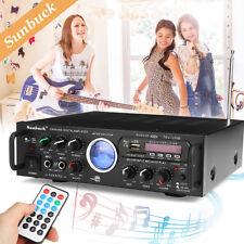 500W Bluetooth Karaoke Powerful Stereo Amplifier 2 Channel  VU Meter FM USB SD