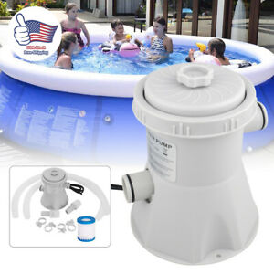 Electric Filter Pump Swimming Pool for Above Ground Pools Water Cleaner Tool USA