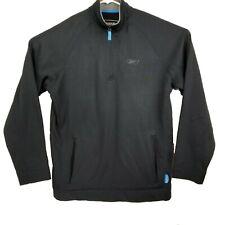 Reebok Mens Black 1/4 Zip Athletic Play Warm Pullover Size L