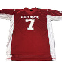 Vintage Ohio State Buckeyes Football Jersey #7 Rare OSU Brand Red Men's Large