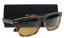 New Dolce and Gabbana Sunglasses Men DG 6095  Brown 289983 DG6095 55mm