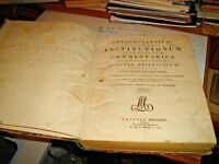 INSTITUTIONUM IMPERIALUM commentary by A. VINNII - NAPLES 1825 only I° volume