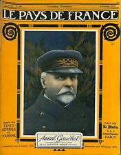 Portrait Admiral Amiral Dominique Mary Gauchet Commandant Forces alliée 1917 WWI