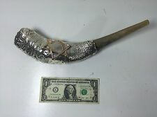 Kosher Ram Horn Shofar with Silver Plate featuring the Star of David