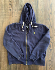 POLO RALPH LAUREN Mens fleece full zip up hoodie BLUE jacket 2XL 2X XXL