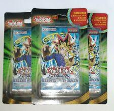 3X Yugioh Legend Of Blue Eyes White Dragon LOB Blister Booster Pack Sealed!
