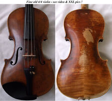 INTERESTING OLD 4/4 VIOLIN see video ANTIQUE fine Violino バイオリン скрипка 小提琴 711