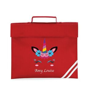 Personalised printed Unicorn School Bag with your Name kids