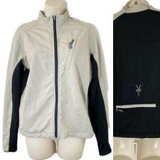 Ibex Womens Medium Climawool Jacket Ivory & Black Wool Blend Front Pockets